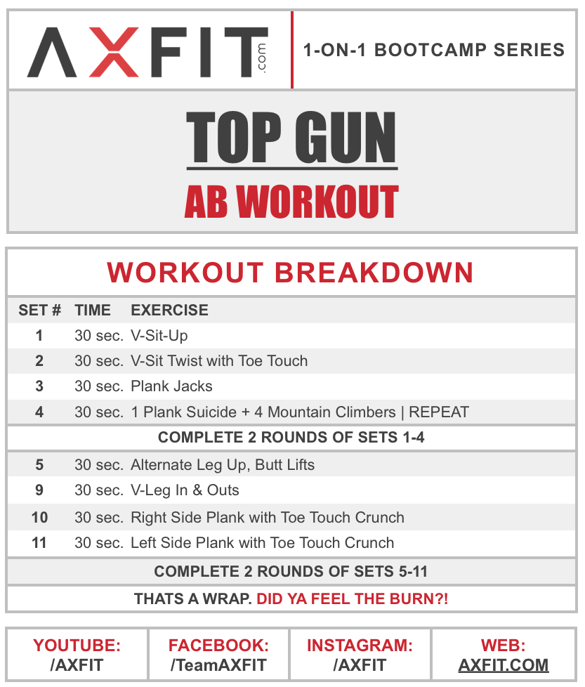 Home Boot Camp Workout 8 Minute Ab 22top