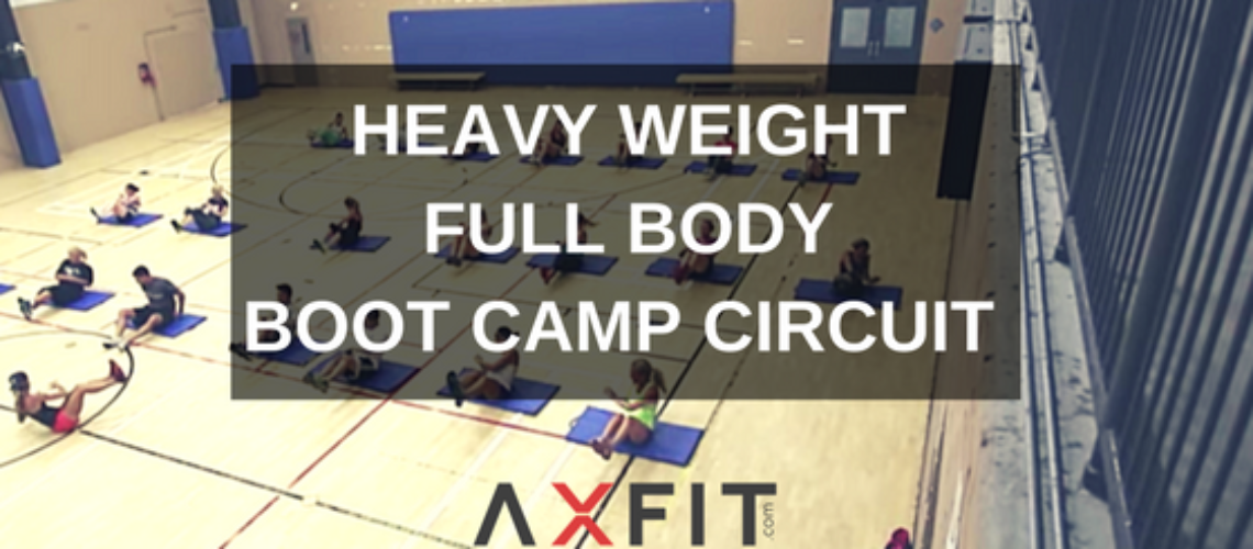 Heavy Weight Full Body Boot Camp Circuit Workout : Group Training Exercise Ideas
