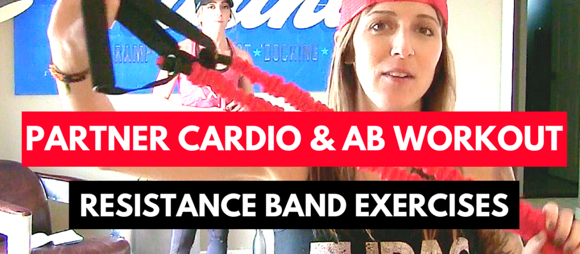Partner Home Workout with Resistance Bands