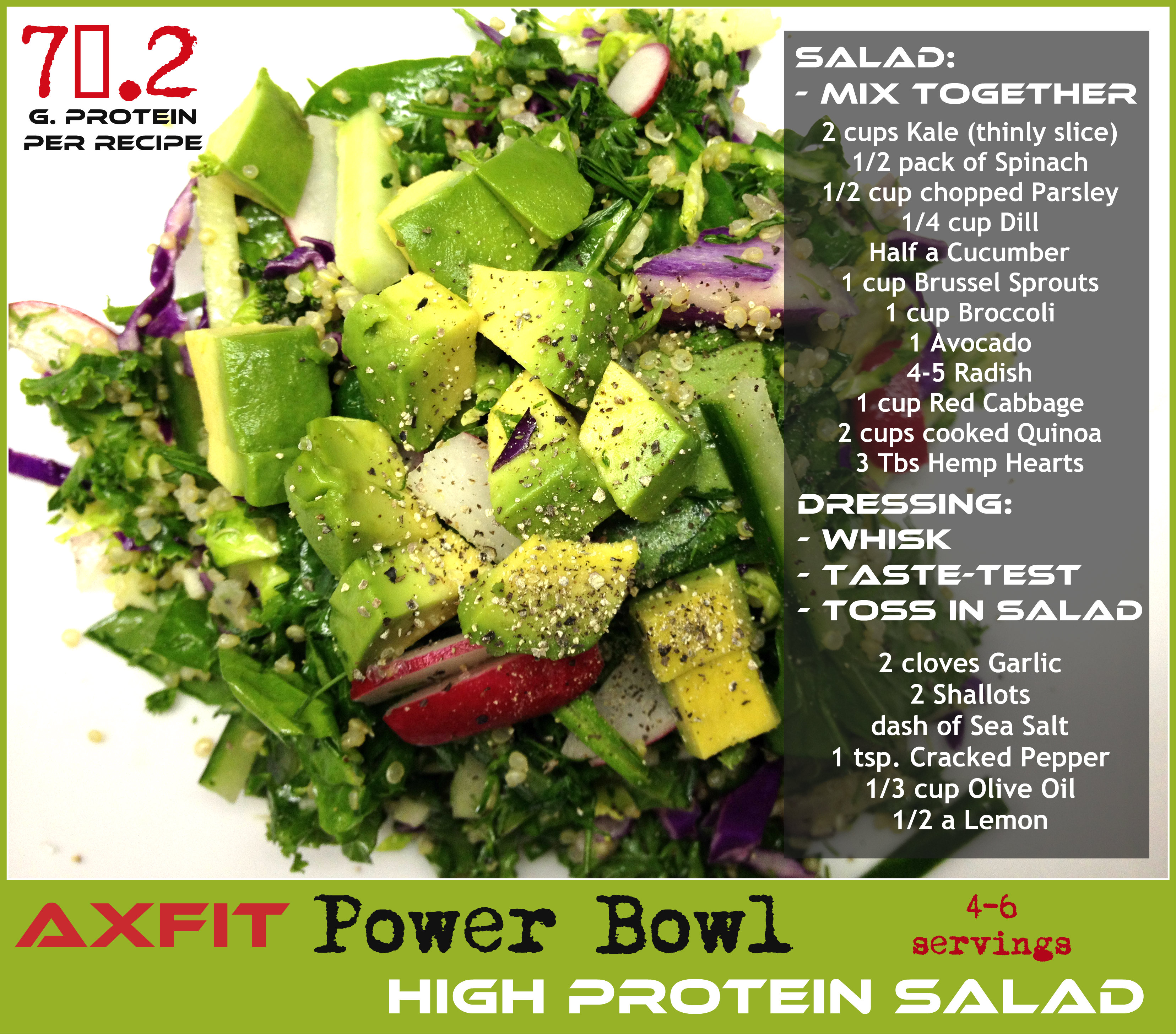 AXFIT Power Bowl - High Protein salad