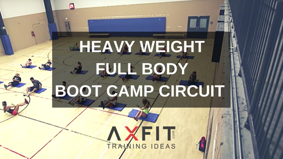 heavy weight full body boot camp circuit workout group training